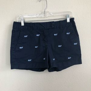 Vineyard Vines embroidered Whale navy shorts 2
